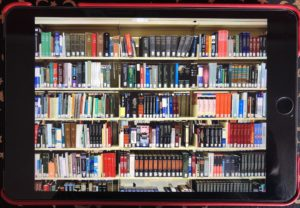 Bookcase of Books on an eReader