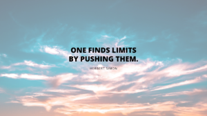 One Finds Limits By Pushing Them